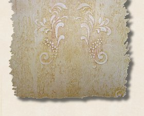 Florentine Scroll - a texture Stencil, finished with two or three glazes of color