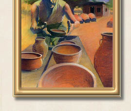Original Fine Art - The Old Greek Potter