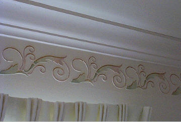 Stencil Projects - Living room Dimensional Border