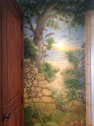 Trompe L'oeil Tropical Garden Mural slideshow